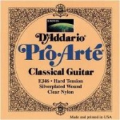 D'Addario EJ 46 Pro Arté - nylonové struny pro klasickou kytaru (hard tension)