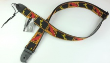 "Fender 2"" Monogrammed Strap Black/Yellow/Red - kytarový popruh"