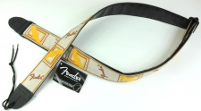 "Fender 2"" Monogrammed Strap White/Brown/Yellow - kytarový popruh"