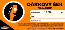 Dárkový šek 1000,- Kč k nákupu na Prokapelu.cz