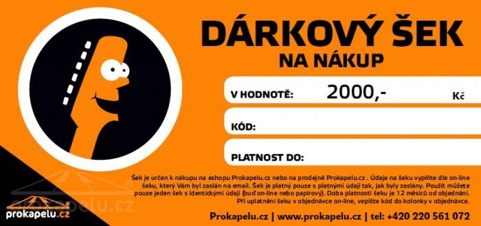Dárkový šek 2000,- Kč k nákupu na Prokapelu.cz
