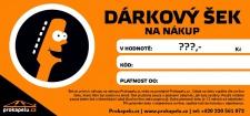 Dárkový šek flexibilní hodnota (k nákupu na Prokapelu.cz)