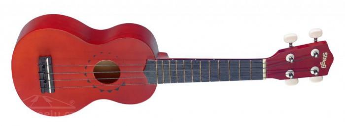 STAGG US 10 TATTOO - sopránové ukulele s tetováním