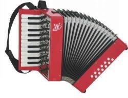Weltmeister Mini 22/12/I červený - klávesový akordeon
