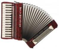 Weltmeister Model Achat 34/80/III/5/3 - klávesový akordeon
