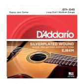 D'Addario EJ 84 M - gypsy jazz struny