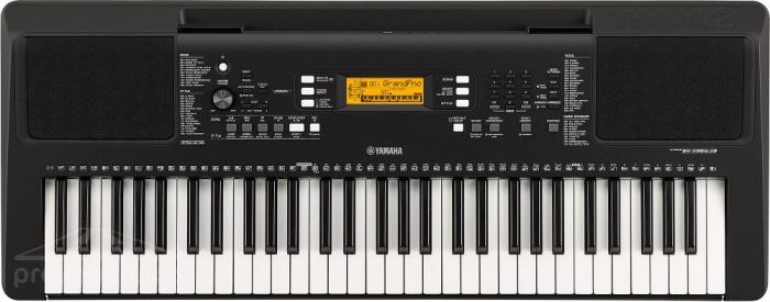 Yamaha PSR E363 - klávesy s dynamikou