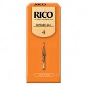 Plátek Rico pro sopránový saxofon - tvrdost 4