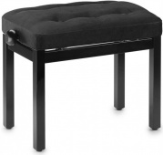 STAGG PB 36 BKM VBK - černá matná / černá samet klavírní lavička