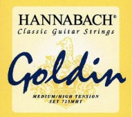 Hannabach 725 MHT Goldin - nylonové struny pro klasickou kytaru (medium/high tension)