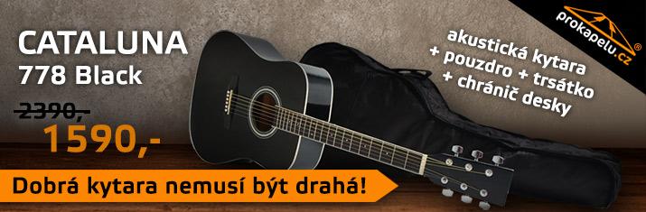 Cataluna 778 Black - akustická kytara s pouzdrem za 1590,- Kč