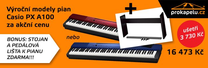 Výroční modely pian Casio PX A100 za akční cenu