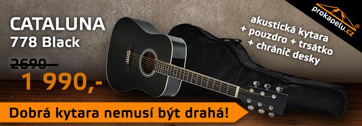 Cataluna 316 Black - akustická kytara s pouzdrem za 1850,- Kč